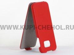 Чехол флип Samsung G920 S6 UpCase красный