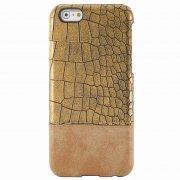 Чехол-накладка iPhone 6/6S П43046 золотой крокодил