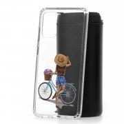 Чехол-накладка Samsung Galaxy S20 Plus Kruche Print Велосипедная прогулка