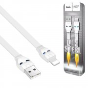Кабель USB-iP Hoco U14 Steel Man White 1.2m