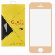 Защитное стекло Apple iPhone 5/5S/5c/SE Glass Pro Full Screen розовое золото 0.33mm