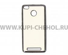 Чехол-накладка Xiaomi Redmi 3 Pro Hallsen прозрачный с черными краями без логотипа