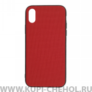 Чехол-накладка Apple iPhone X Kajsa Military Straps Red