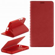 Чехол книжка Xiaomi Mi4i / Mi4c Book Case New красный