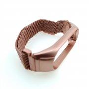 Ремешок металлический для Xiaomi Mi Band 3/Mi Band 4 Миланская петля розовое золото