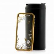 Чехол-накладка Apple iPhone 5/5S SkinBox chrome border color style 1 4People белый