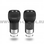 Автоадаптер 2.4A 2USB Remax RCC-207 Black