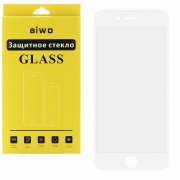 Защитное стекло Apple iPhone 6/6S Aiwo Full Screen Cover белое 0.33mm