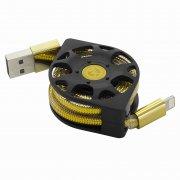 Кабель Multi USB-iP+Micro WK WDC-029 Gold 1m