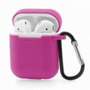 Чехол для Apple AirPods силиконовый розовый