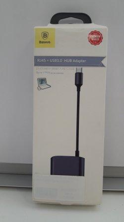 ХАБ Type-C-USB+RJ45 Baseus CATSX-B0G Gray УЦЕНЕН
