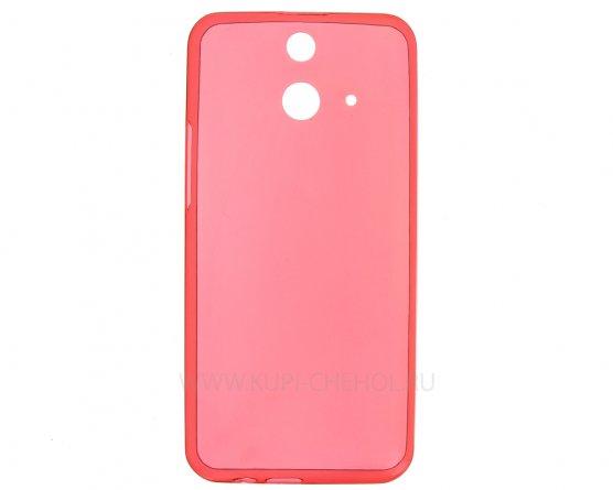 Чехол-накладка HTC One E8 / E8 Dual красный глянцевый 0.5mm