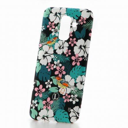 Чехол-накладка Samsung Galaxy A6 Plus (2018) A605f/J8 2018 Luxo Flowers H11 фосфор