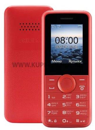Телефон Philips E106 Red