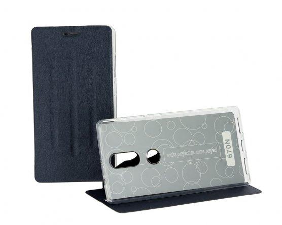 Чехол книжка Lenovo Phab 2 Plus/670n Trans Cover с силиконовой основой синий