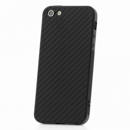 Чехол-накладка Apple iPhone 5/5S Карбон 11068 черный