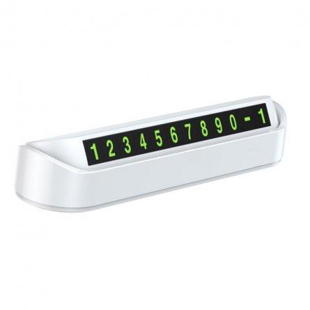 Автовизитка с магнитными цифрами Baseus Tock ACNUM-DD02 White