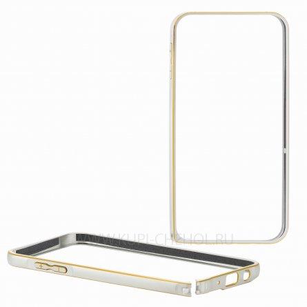 Чехол-бампер Samsung Galaxy J5 металл 0.7mm 7721 серебряный