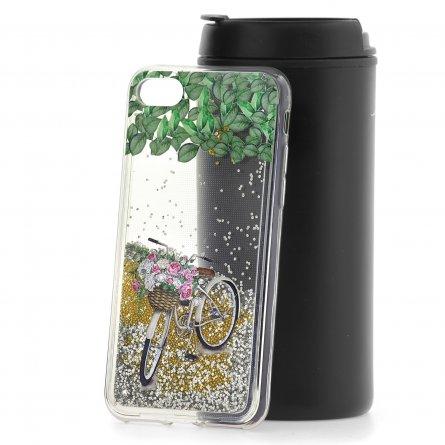 Чехол-накладка Apple iPhone 7/8 Lovely stream Bicycle with flowers