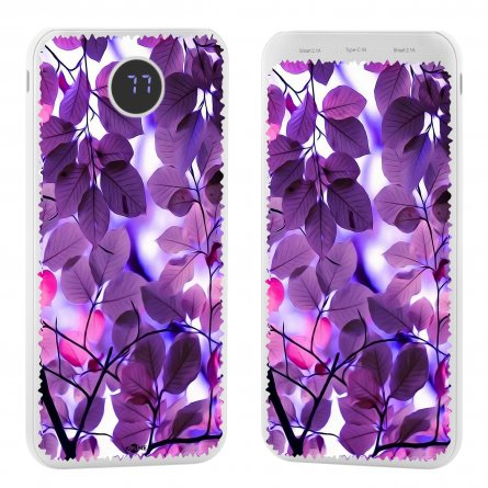 Power Bank 10000 mAh (584376) Kruche Print Purple leaves