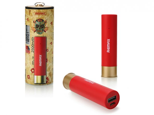 Power Bank 2500 mA Remax Bullet RPL-18 Red