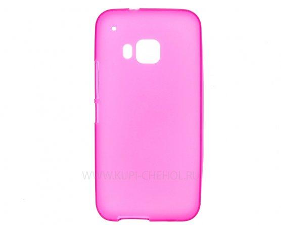 Чехол-накладка HTC One M9 розовый матовый