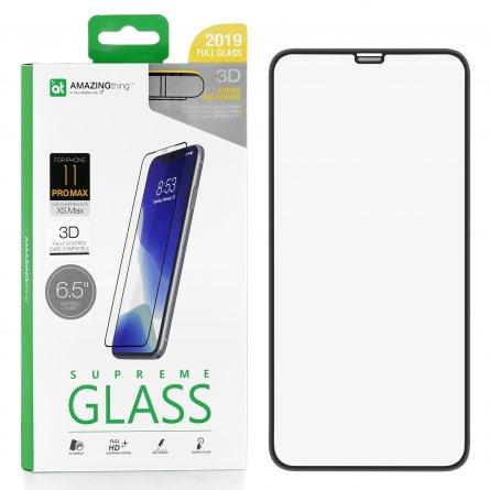 Защитное стекло iPhone XS Max Amazingthing Hot Bending Dust-Filter 3D Black 0.3mm