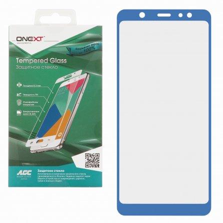 Защитное стекло Samsung Galaxy A6 Plus (2018) A605f Onext Full Glue синее 0.3mm