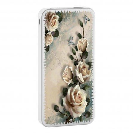Power Bank 20000 mAh (584375) Kruche Print Белые розы
