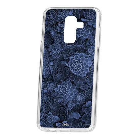 Чехол-накладка Samsung Galaxy A6 Plus (2018) A605f/J8 2018 Kruche Print Каменная роза