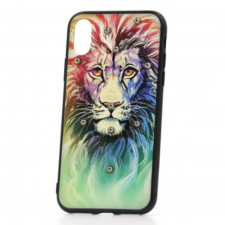 Чехол-накладка Apple iPhone X Lion