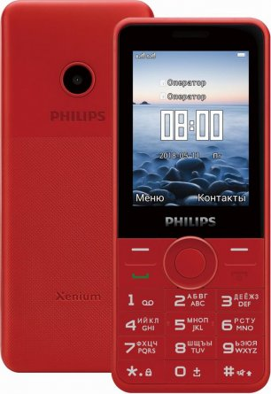 Телефон Philips E168 Red