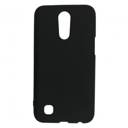 Чехол-накладка LG K10 2017 чёрный матовый 0.8mm