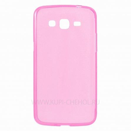 Чехол силиконовый Samsung Galaxy Grand 2 Duos G7102 розовый глянцевый 0.5mm