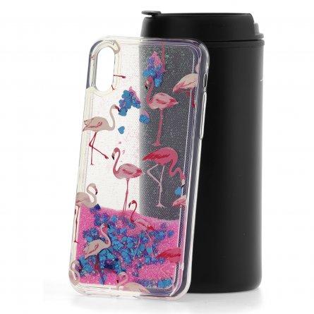 Чехол-накладка Apple iPhone X Lovely stream Pink flamingo