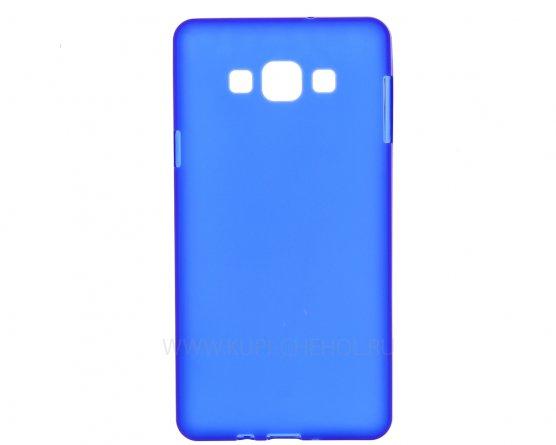Чехол-накладка Samsung Galaxy A7 A700f синий матовый