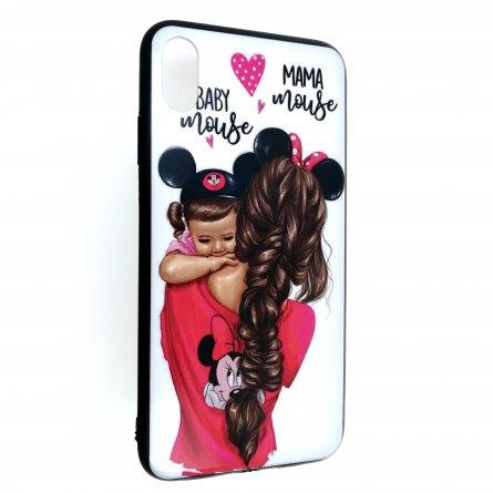 Чехол-накладка iPhone XS Max Family Line Baby Mouse&Mama Mouse