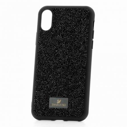 Чехол-накладка iP X Swarovski Кристаллы Black