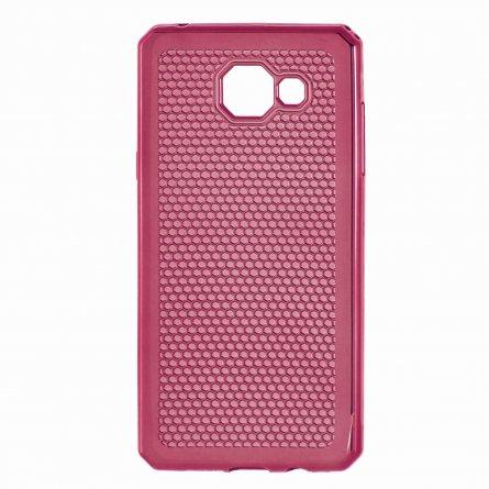 Чехол-накладка Samsung Galaxy A5 (2016) A510 9106 тёмно - розовый
