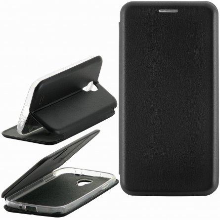 Чехол книжка Samsung Galaxy S4 i9500 Fashion Case с визитницей чёрный