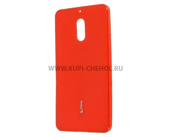 Чехол-накладка NOKIA 6 Cherry красный