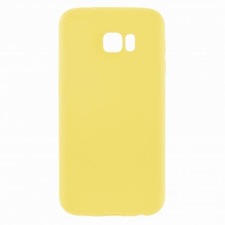 Чехол-накладка Samsung Galaxy S7 Edge тонкий классик жёлтый