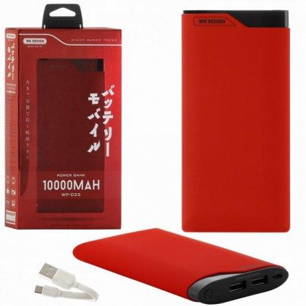 Power Bank 10000 mAh WK WP-035 Red УЦЕНЕН