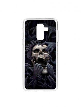 Чехол-накладка Samsung Galaxy A6 Plus (2018) A605f/J8 2018 Kruche Print Skull Hands