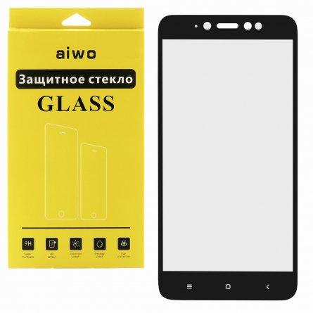 Защитное стекло Xiaomi Redmi Note 5A Aiwo Full Screen чёрное 0.33mm