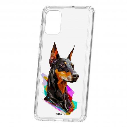 Чехол-накладка Samsung Galaxy A71 Kruche Print Доберман