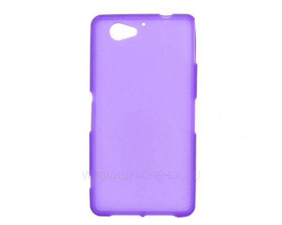 Чехол-накладка Sony Xperia Z2 Compact / Mini фиолетовый матовый