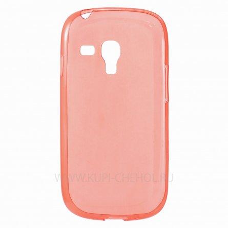Чехол силиконовый Samsung Galaxy S3 mini i8190 красный глянцевый 0.5mm