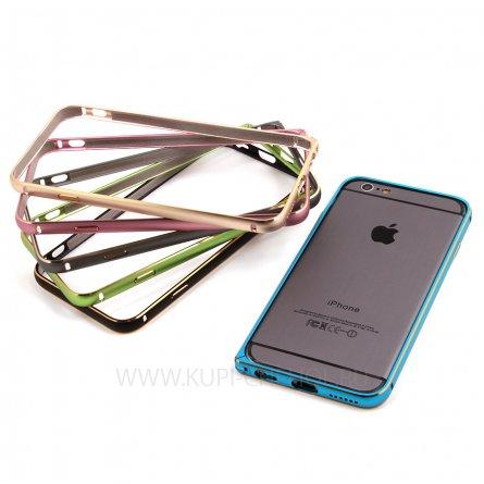 Чехол-бампер Apple iPhone 6 4.7 металл зелёный 7953