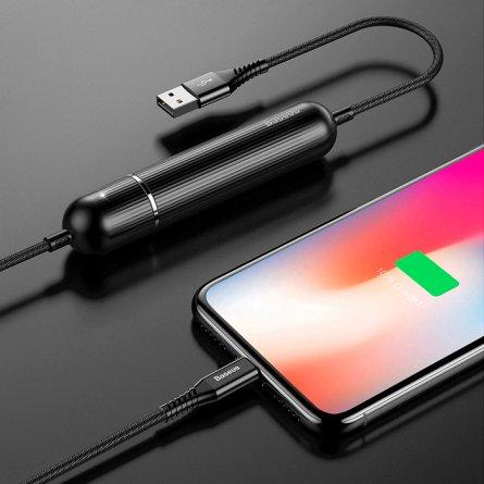 Power Bank-кабель iP 2500 mAh Baseus Calxu-01 Black 1.2m